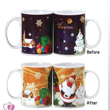 11oz Ceramic Temperature Color Change Cup Magic Mug / cup color change With Photo Decal Design