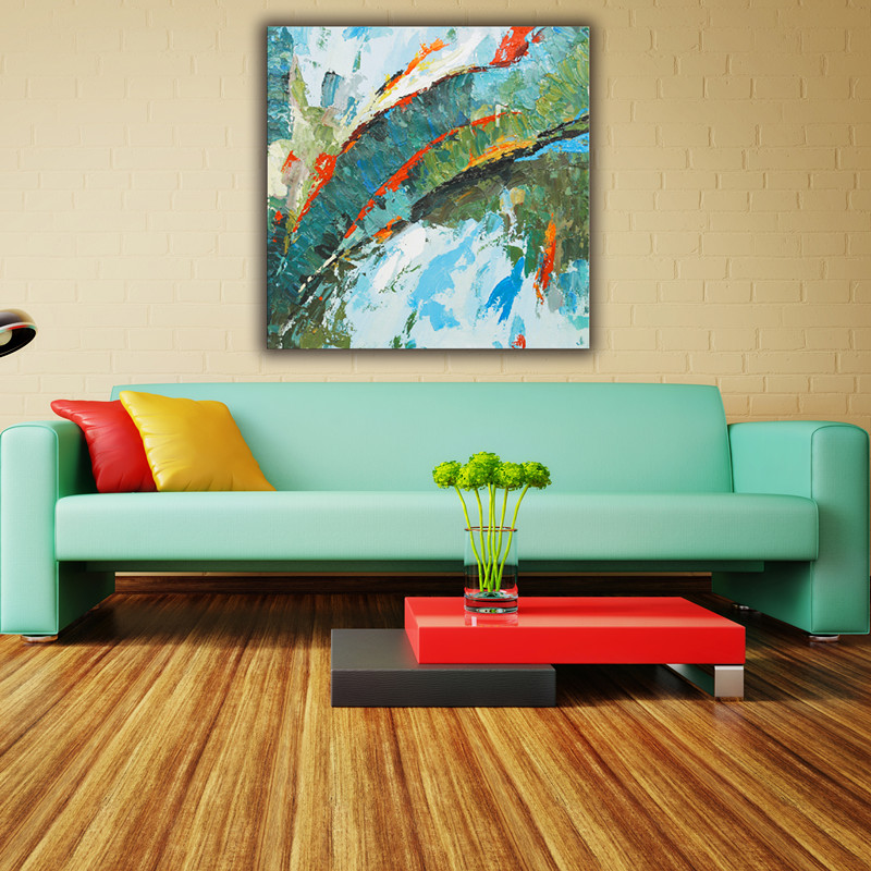 Home decorate baeautiful abstract landscape canvas wall painting designs
