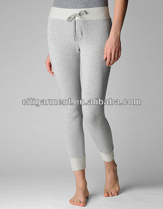 CUFFED BANDED WOMENS SWEAT YOGA PANTS VV0087