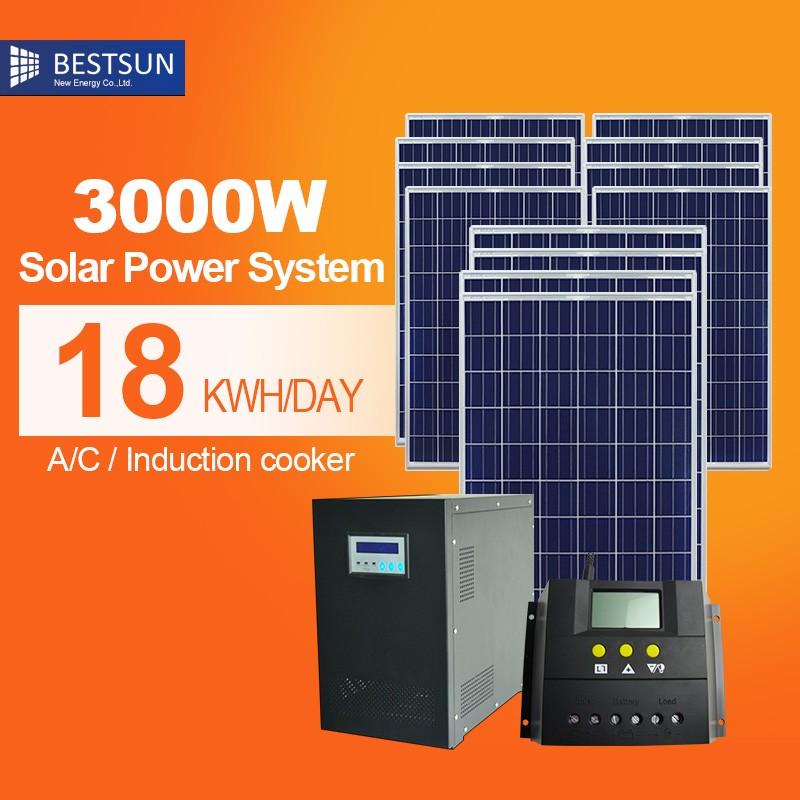 3kw maison panneau solaire kit soleil batterie pour maison. Black Bedroom Furniture Sets. Home Design Ideas