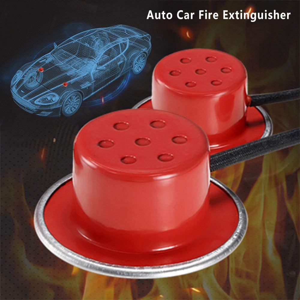 Auto Fire Extinguisher, Rapid Fire Extinguishing with Heat-Sensitive Wire Fire Quench for Cars, Engine