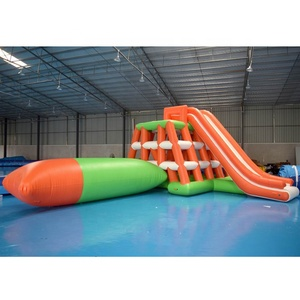 Adults Inflatable Water Climbing Tower With Blob For Lake Or Sea