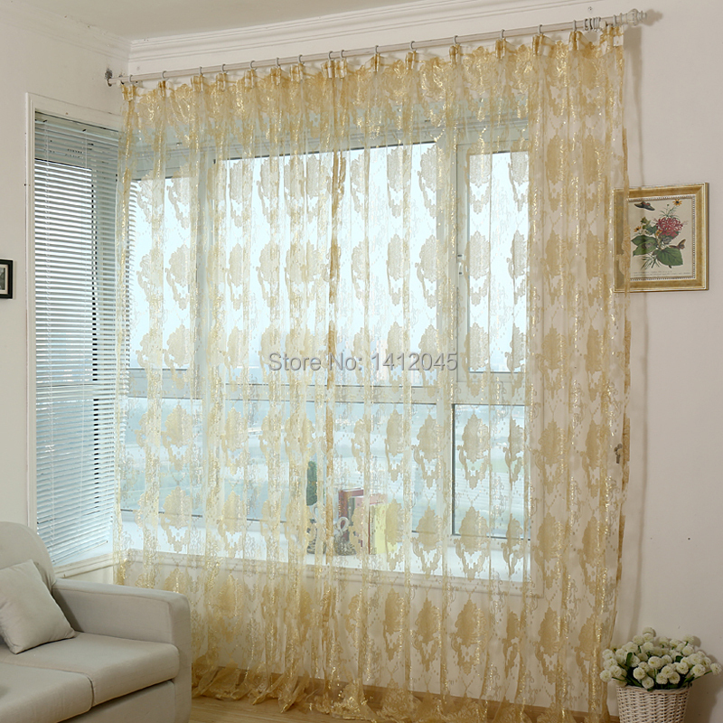 Fashion Modern Organza Finished Window Screning Curtain