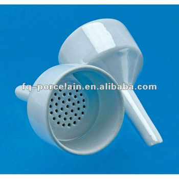 Customized Accepted Alumina Porcelain Filtering Funnel For