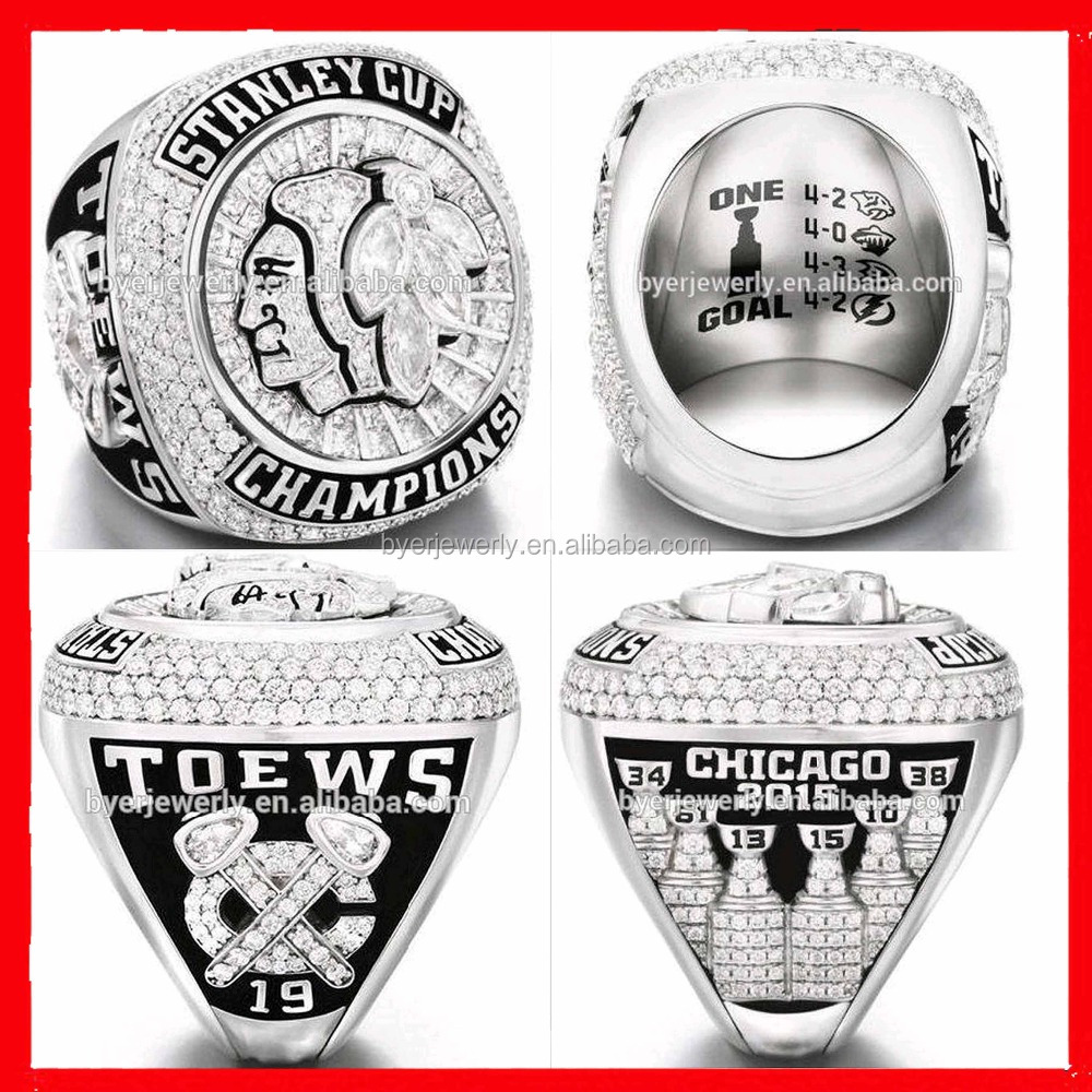 2010, 2012, 2015 Chicago black hawks championship ring new published baseball championship ring hot selling