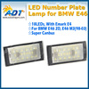 Cheap price LED License Plate Lights 3528SMD Canbus no error led number plate lamp For E46 4D