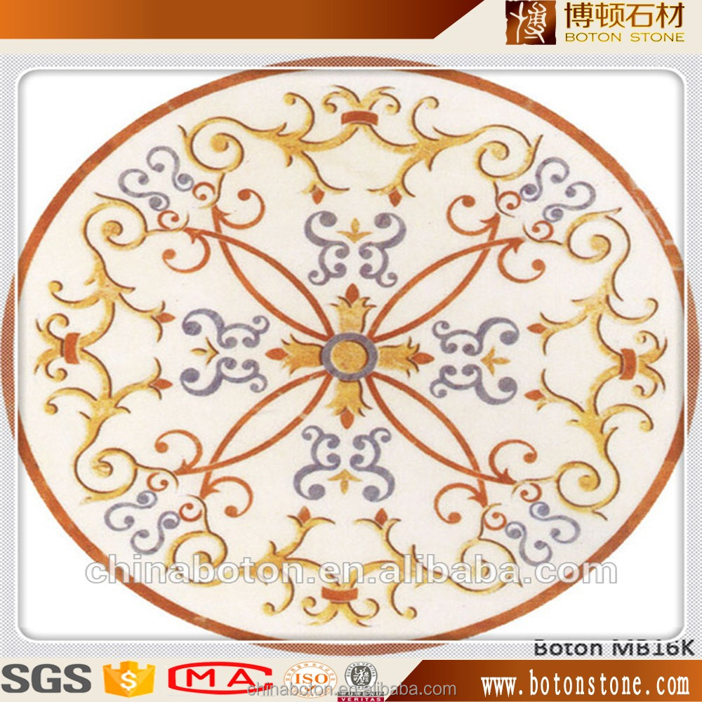 Top products polished waterjet medallion marble tiles for floor