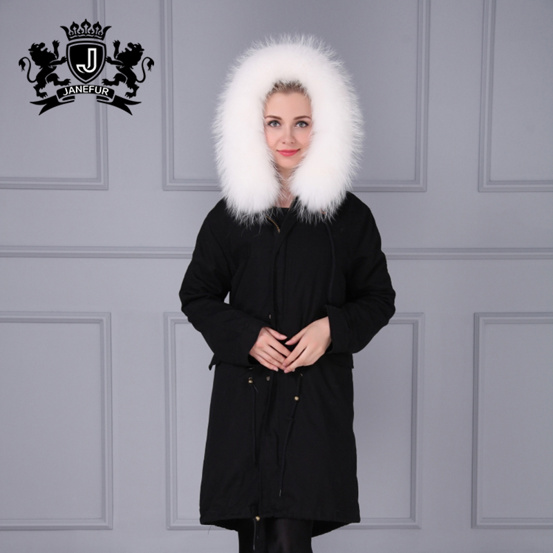 New Style Raccoon fur Lining Coats Real fur Parka With Hood