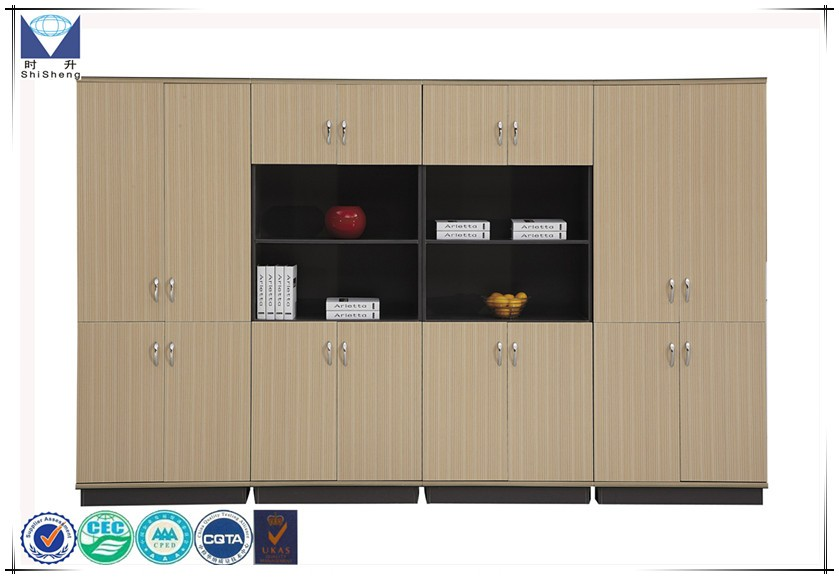 2017 new design 8 doors office furniture filecabinet modern tall wood vertical bookcase