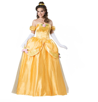 Factory price bell princess costume cheap fairy tale costume adult cosplay princess