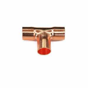 refrigeration copper fittings air conditioner copper pipe fittings 3 way copper elbow fitting