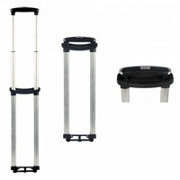 High performance curved aluminum retractable trolley handle