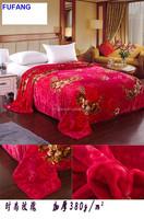 shaoxing city textile micro colored blanket cow print fleece blanket king size flannel fleece blankets