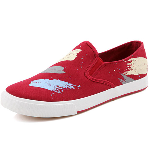2015 New Arrival Woman Canvas Shoes Spring Casual Breathable Print Platform Plats For Women Round Toe Shoe Sapato Red Size 39-44