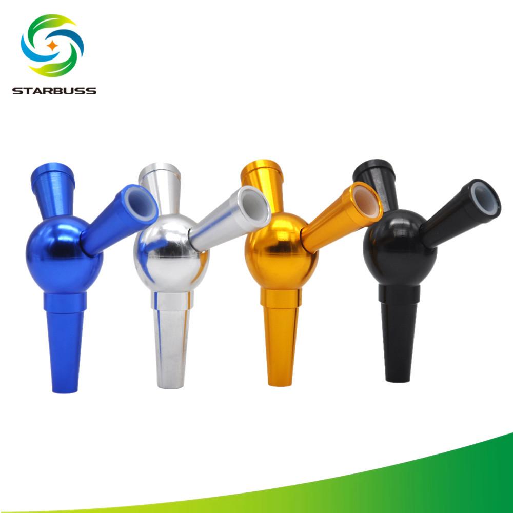 STARBUSS Multi Connector Shisha Hookah Pipe Hose Adapter 1 to 2 Splitter Hose Bypass Valve, Black/blue/gold/silver