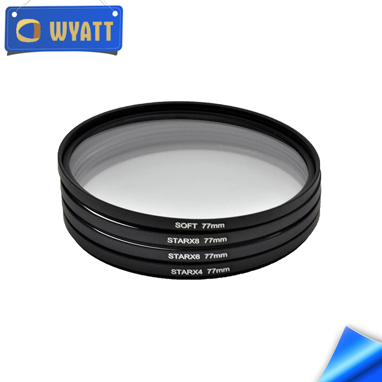 Wyatt diffraction filters set Soft +Star Filter 4/6/8 Line Starlight Night Photography for dslr camera accessories