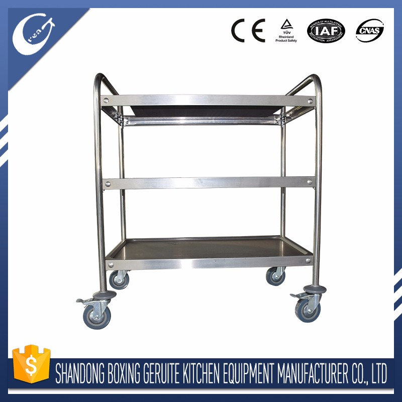 restaurant equipment trolley wheel food serving trolley