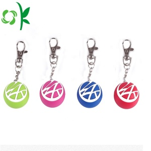 Customized Colors Golf Ball Silicone Keychains Soft Key Ring For Key Accessories