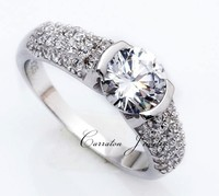 Wholesale High Quality Solitare CZ Diamond Genuine 925 Sterling Silver Ring