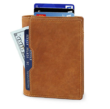 bdfc95856e RFID Blocking Bifold Slim Genuine Leather Thin Minimalist Front Pocket  Wallets for Men Billfold Made From Full Grain Leather, View Wallet, OUXIN  ...