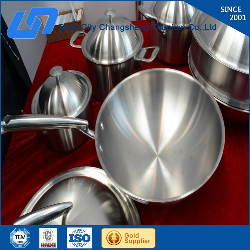 anti-allergy pure titanium camping cookware