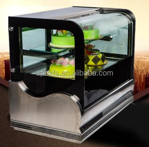 Portable mini cake display refrigerator with high speed cooling