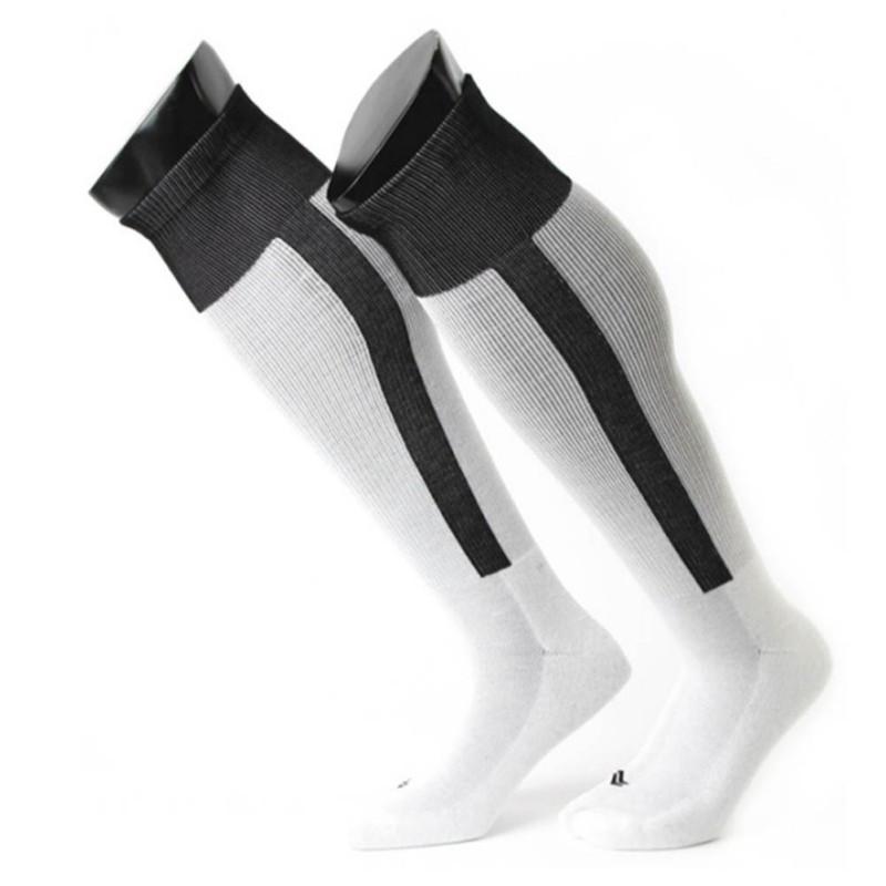 f1bf66ac7 Get Quotations · Ddults Football Jerseys knee-high socks white baseball  sock stripes Men socks