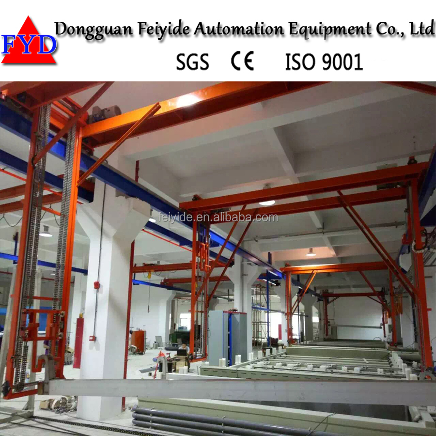 Feiyide Rack Electroplating Production Line Plating Machine For Copper Rhodium Nickel