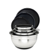 stainless steel serving bowl silicone mixing bowls with lid