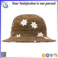 High quality customize embroidered mens corduroy bucket hat