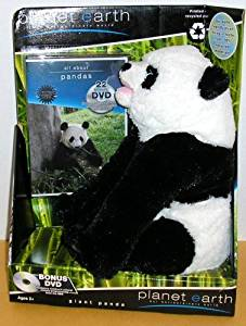 Planet Toys Planet Earth Large Plush Animals with unseen footage DVD Assortment - Giant Panda