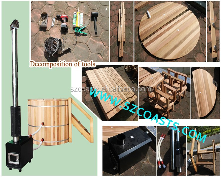 6 человек уличное спа джакузи наружная ванна печь пожарной дровой гидромассажная ванна Buy гидромассажная ванна деревянная гидромассажная