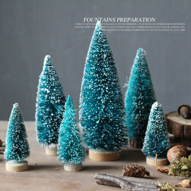 AIBEI-Zakka Mini Christmas Tree 1PC cedar Plastic Pine Home Decoration Christmas Decoration Supplies Photo Props