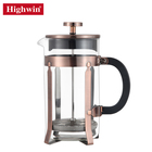 Premium Heat Resistant Borosilicate Glass Pot coffee plunger set french press coffee maker stainless steel