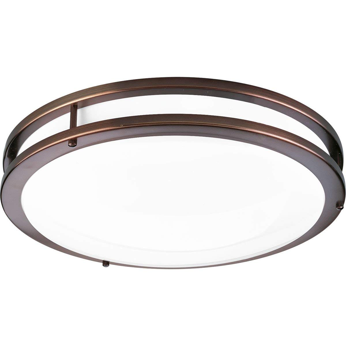 Progress Lighting P7253-17430K9 One-Light Surface Mount with Clean Modern Lines, Urban Bronze