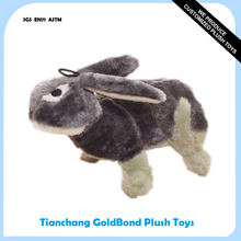Factory Supply Plush Stuffed Soft Wild Animal Rabbit Squeaky Pet Toy