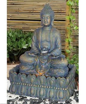 Aussenbrunnen Aus Polyresin Mit LED Licht Buddha Wasserbrunnen Brunnen