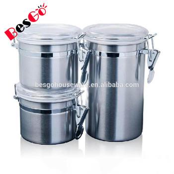 Kitchen Storage Jar Stainless Steel Canister