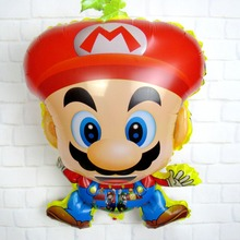 Lowest price 10pcs/lot 60*44cm  Super Mario foil Balloons  Mario baloon Kids Party toy Decoration Supplies