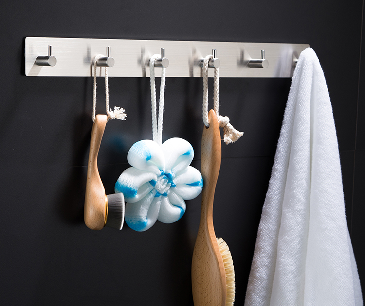 FACTORY solid metal towel hook rack traceless towel hook stainless for bathroom