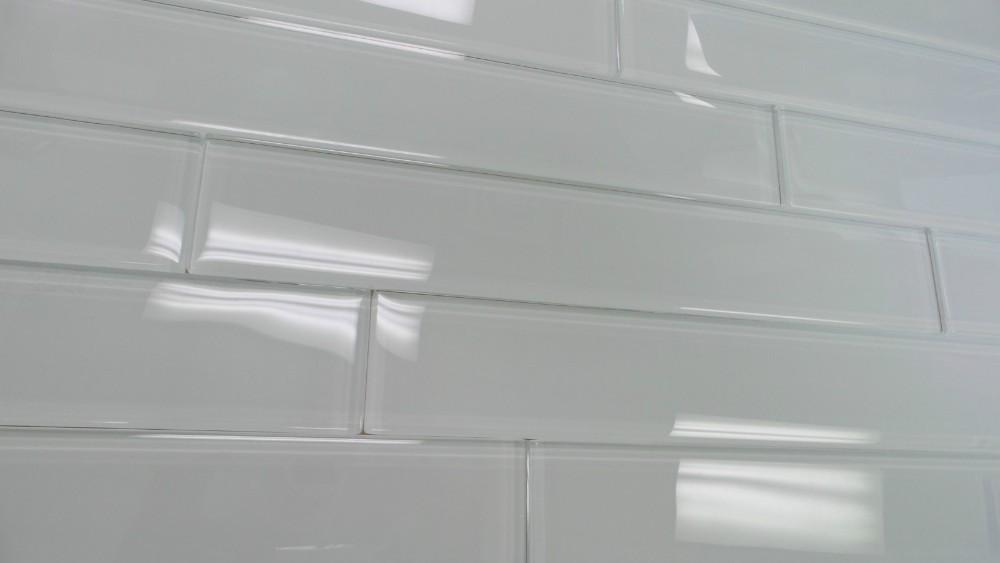 Super White Glossy Subway Glass Tile 2\