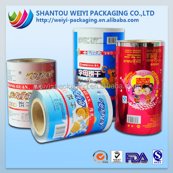 hight quality products of plastic food flexible packaging film in packaging bags