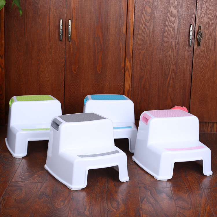 Child Toilet dual height plastic folding child step stool for kids