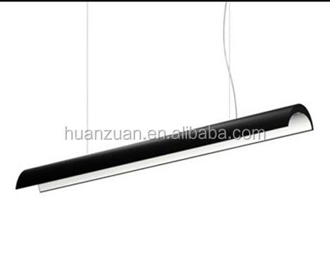 Led Suspended Led Strip Pendant Lamp,Black Color Iron Hanging Led ...