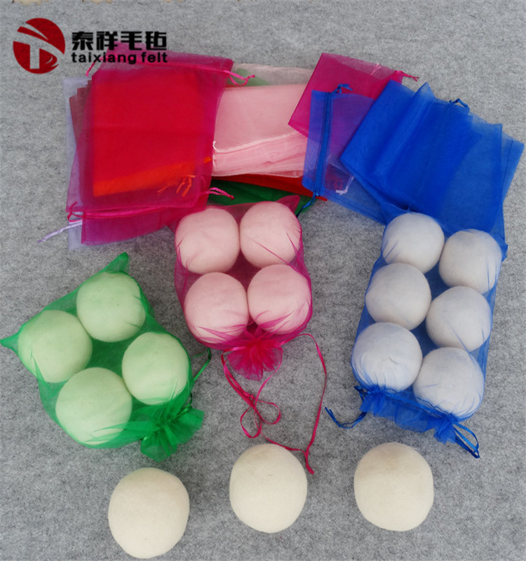 Walmart products made in china private label 100% handmade organic wool laundry dryer balls