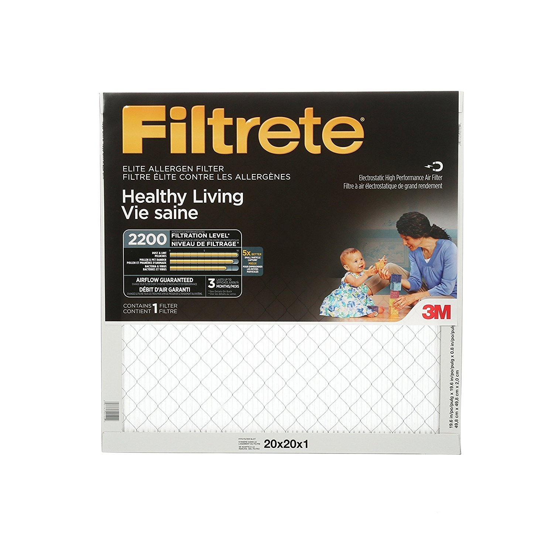 20x20x1 MPR 2200 Filtrete Elite Allergen Reduction Filter - Single