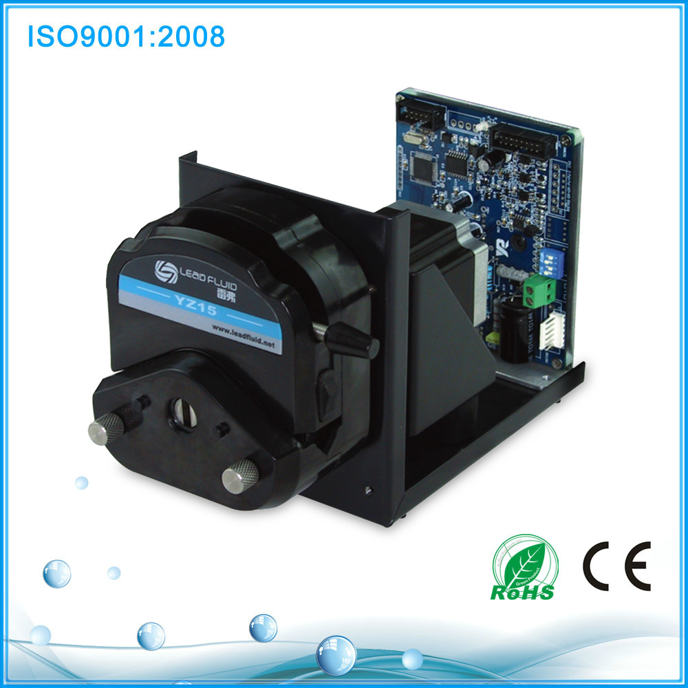 Medical saline dosing peristaltic pump YZ15+ stepper motor drive (4-20mA)price with various flow rate