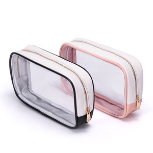 Clear pvc bag Transparent zipper travel pvc cosmetic bag