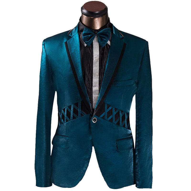 2015 New Arrival Men Suit Elegant Blue Design Mens Slim Prom Tuxedo Suits With Pants Fashion Groom Party Wedding Suits For Men