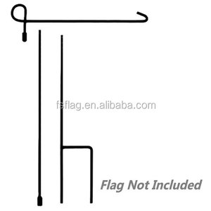 Custom OEM Iron Wholesale Yard American Flags Pole with Anti-Wind Clip and Stopper